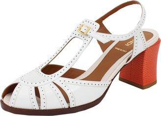 Fendi Wing Tip Chunky Heel Sandal