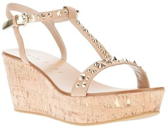 Lola Cruz studded wedge sandal