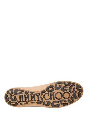 Jimmy Choo Whirl Glitter And Patent Ballerina Flats