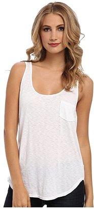 LAmade Boyfriend Tank w/ Pocket (White) Women's Sleeveless