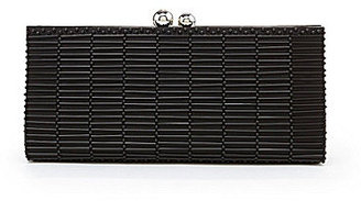 Kate Landry Bead Front Kiss Frame Clutch