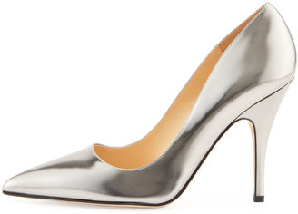 Kate Spade Licorice Mirrored Pointy Pump, Pewter