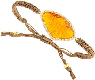 Tai Orange Facet Drawstring Bracelet