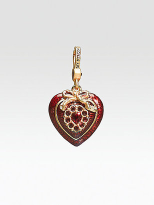 Jay Strongwater Crystal Heart Charm