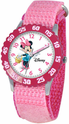 Disney Watch, Kid's Minnie Mouse Time Teacher Pink Velcro Strap 31mm W000024