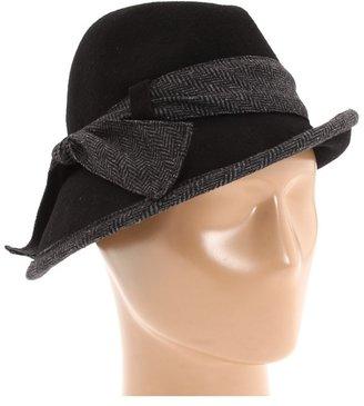 Jessica Simpson Menswear Bow Cloche (Black) - Hats