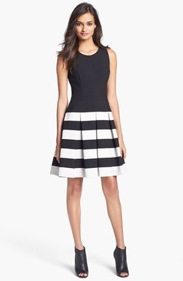 Milly Stretch Fit & Flare Dress