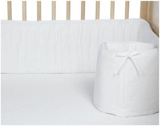 American Baby Company 100% Cotton Percale Crib Bumper - White