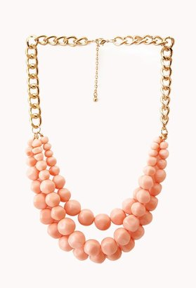 Forever 21 striking multi-layer bead necklace