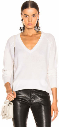 Equipment Asher Cashmere V Neck in Ivory | FWRD