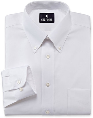 STAFFORD Stafford Travel Performance Pinpoint Oxford Dress Shirt