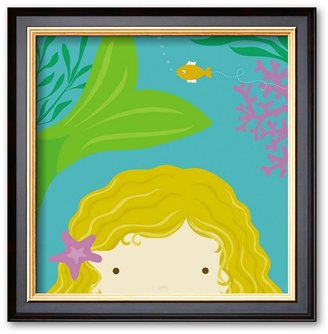 "Art.com Peek-a-Boo Heroes: Mermaid"" Framed Art Print by Yuko Lau"