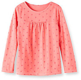 Little Miss Attitude Girls' 2T-6X Long Sleeve Glitter Dot Tee