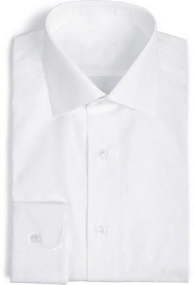 Brioni White Cotton Lecce Shirt