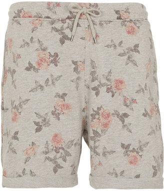 Topman Rose Print Jersey Shorts