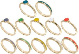 Asos Spot & Stripe Rings Multipack