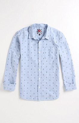 Modern Amusement Anchors Long Sleeve Woven Shirt