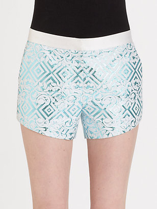 Prabal Gurung Brocade Shorts