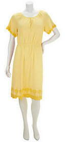 Liz Claiborne New York Short Sleeve Knit Dress with Embroidery $14.29 thestylecure.com