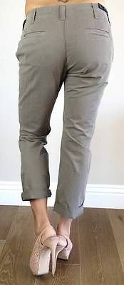 J Brand NEW for THEORY INEZ SLIM FOLD WOMENS PANTS LOW RISE CAPRIS BOYFRIEND