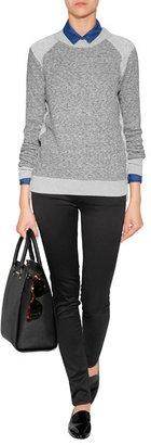 Theory Cotton-Wool Goleta Sweatshirt in Light Heather Grey