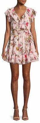 Needle & Thread Rainbow Rose Wrap Dress