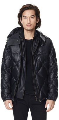 Theory Magnus QL Coat in Oblique Leather