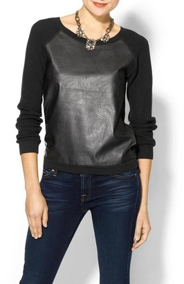 French Connection London Faux Leather Front Sweater