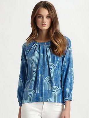 Kelly Wearstler Arara Printed Silk Top