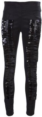 Olima denim patent leather pants