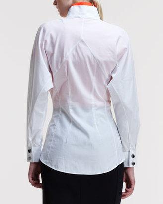 Altuzarra Kenmare Half-Placket Seamed Shirt