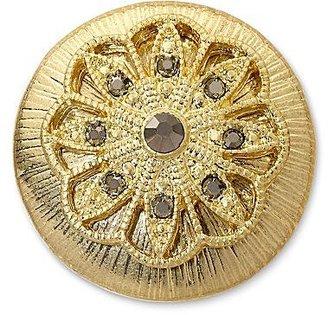 JCPenney Aris by Treska Gold-Tone Black Crystal Ring