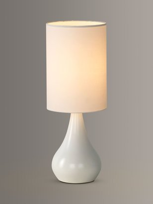John Lewis & Partners Kristy Touch Lamp, White