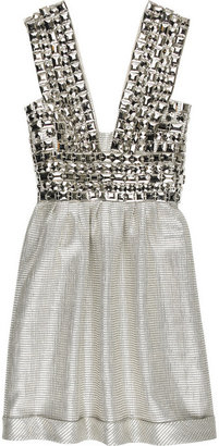 Burberry Gem embellished metallic dress