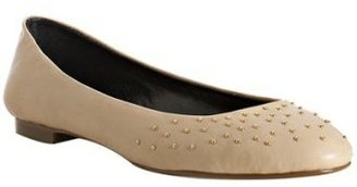 Matiko nude studded leather 'Tinsel' flats