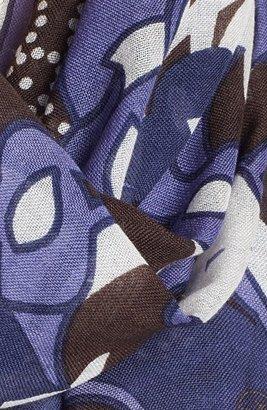 Tory Burch 'Calla Engineered' Wool Scarf