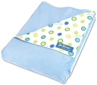"""Trend Lab Dr. Seuss """"Oh The Places You'll Go!"""" Receiving Blanket by Blue"""