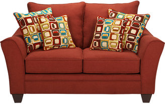 Rooms To Go Santa Monica Red Loveseat