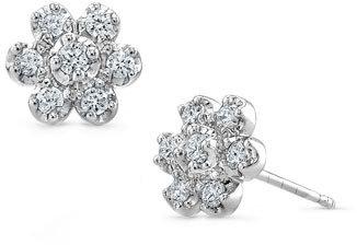 Nordstrom Bony Levy Diamond Flower Stud Earrings Exclusive)