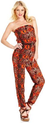 Monroe Marilyn Jumpsuit, Strapless Belted Jumpsuit