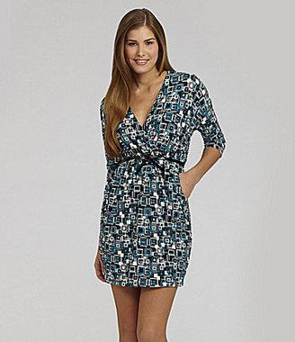 Catch My I Square Print Surplus Dress