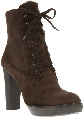 Hogan mid calf lace-up boot
