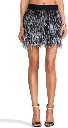 Milly Cocktail Ostrich Fringe Skirt