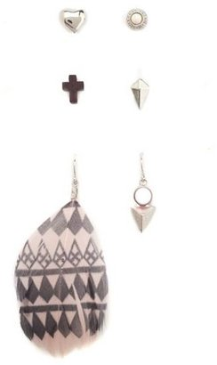 Charlotte Russe Feather Mix & Match Earring Set