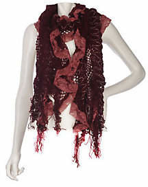 Collection XIIX Ruffle Lace Muffler with Fringe $21 thestylecure.com