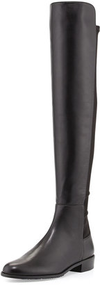 Stuart Weitzman Schizo Napa Stretch Over-the-Knee Boot, Black