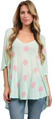 Wildfox Couture Little Mermaid Tunic in Pool Party