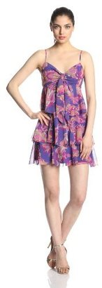 Juicy Couture Women's Floral Blossom Ruffle Tiered Dress