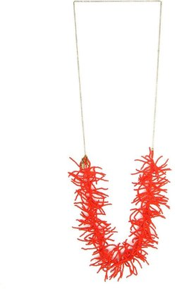 Lalesso Fair Trade Red Bead Coral Pendant Necklace