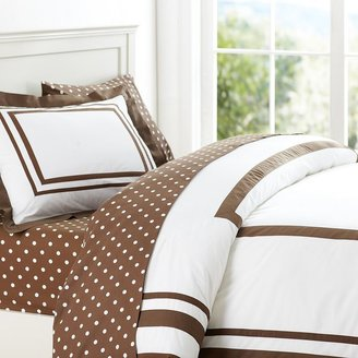 PBteen Suite Bundle with Dottie Sheeting, Coffee